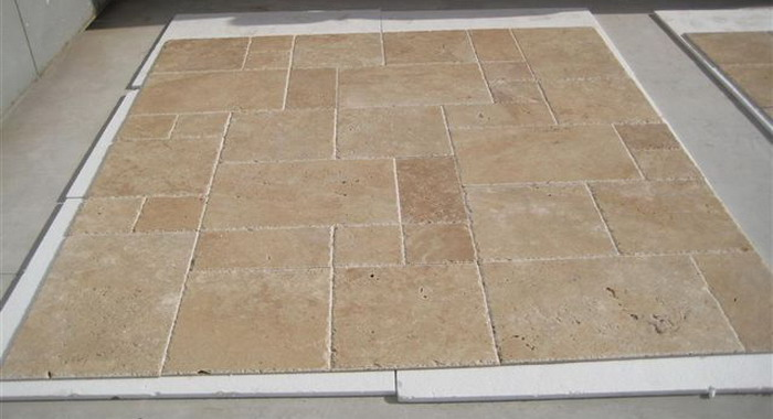 travertine floor tiles